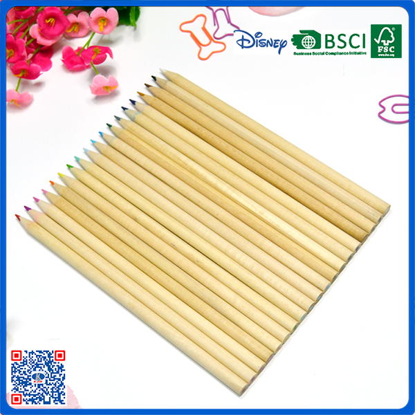 high quality 7inch basswood colored pencil for school