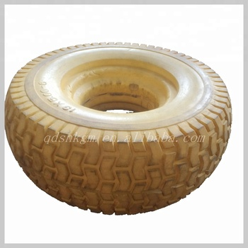 Manufacture 13x5.00-6 PU Solid Rubber Mower Wheel