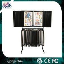 High Quality Elegant Flash Rack,Professional tattoo flash rack display