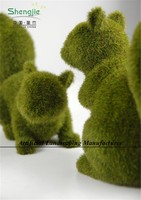 wholesale Topiary Animal Moss Covered Artificial for Office Decorative
