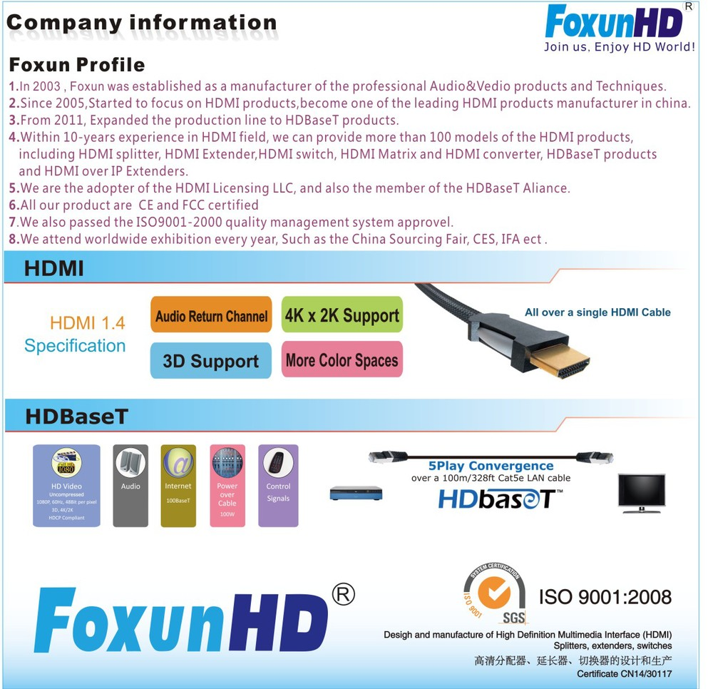 HDMI Splitter 1 in 4 out support HDCP with Audio extractor over Toslink fiber, resolution up to 4K, HDMI Splitter with Audio out
