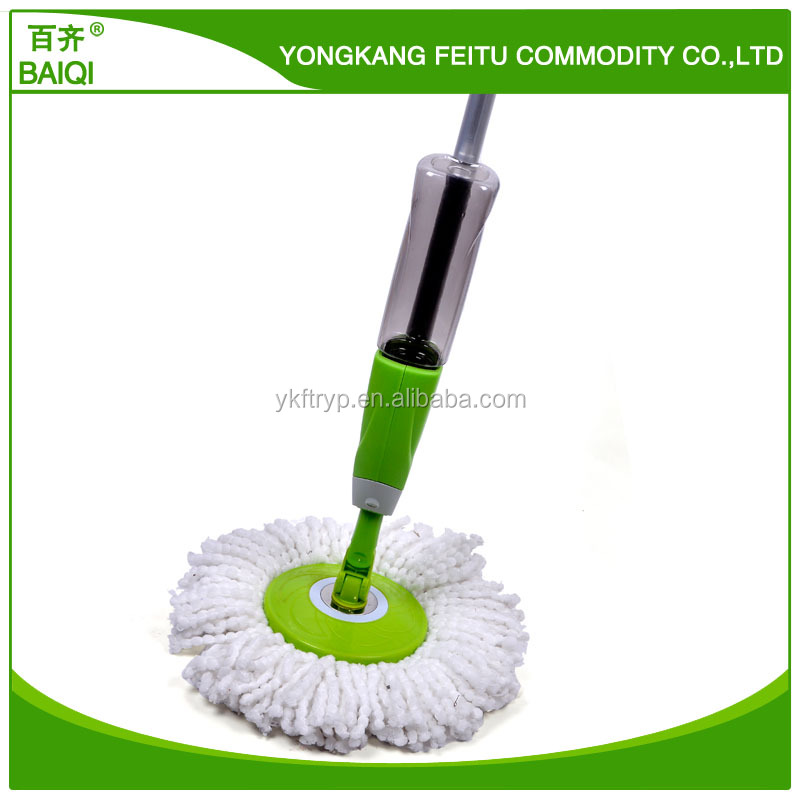 Microfiber Mop Head Material and Aluminum Pole Material magic spin spray mop