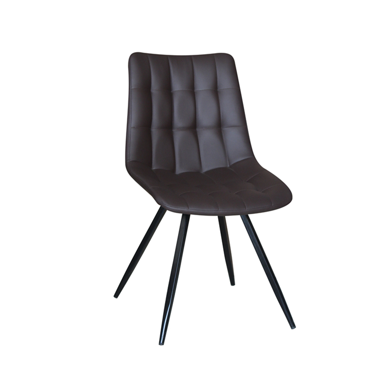 PU Leather Cushion Metal Legs Leisure Kitchen Chair Morden Dining Chair For Restaurant Living Room Chairs