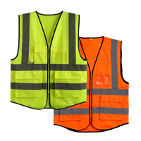 customizable EN 20471 and ANSI/ISEA 107 reflective safety vest