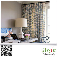 2016 Thermal Insulated Blackout full seasons geometrical polyester cotton drapery fabric textile for curtain