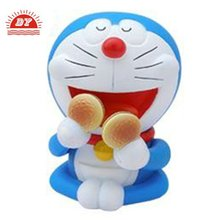 custom make cartoon character doreamon plastic coin bank