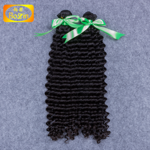 tangle free deep wave wet and wavy human hair extension bulk buy from china virgin hair 100 percent indian remy human