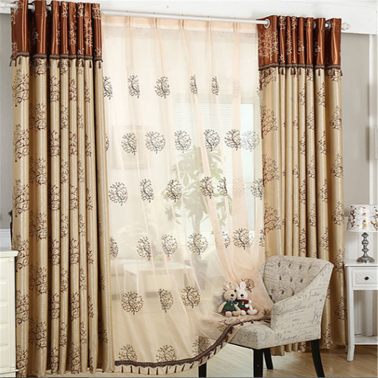 100% Polyester jacquard simple utility fancy window curtains