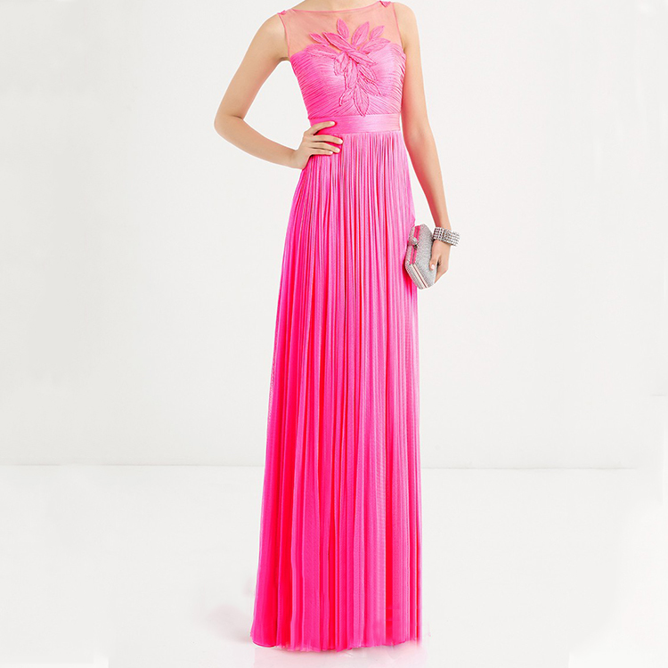 Wholesal Party Dress Candy Pink Beauty Evening Dress
