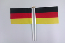 Germany hand waving flags hand held flag pole