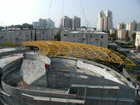Audience hall steel space frame roofing