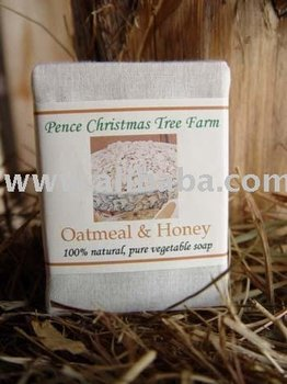 Oatmeal and Honey Soap Bar 100% All Natural Handmade Vegetable Soap