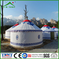 high quality aluminum bamboo camping luxury yurt