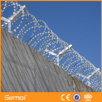 High Quality PVC Coated Electro Galvanized Cross Type Razor Barbed Wire (ISO9001;MANUFACTURER)