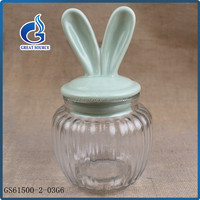 Cheap Storage Bottles & Jar Type Glass Airtight Canisters With Ceramic Lids