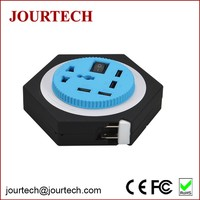 4 USB Mobile Phone Output 5A DC 5V USB Charger with 1 Universal Rotatable Socket for NEXUS