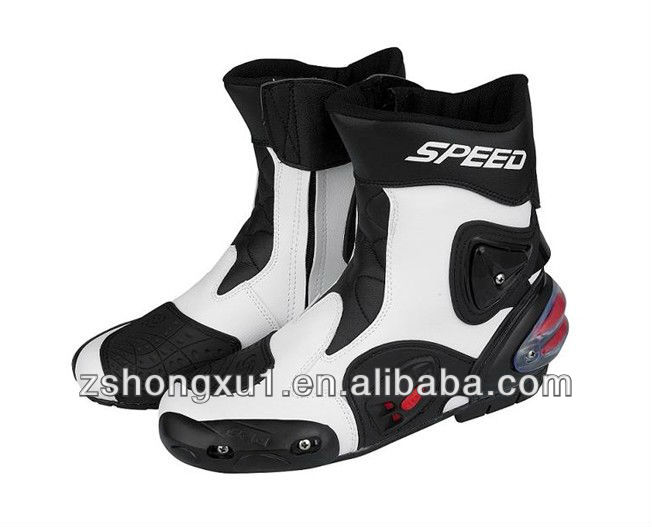 Mens Red colour Motorcycle Boots with Super Fiber Leather red motorcycle boots