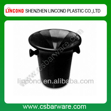 3.3L plastic wine spit ice bucket disposable with stand and lid