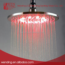 Wenting Eco-friendly water saving led color light up top shower head