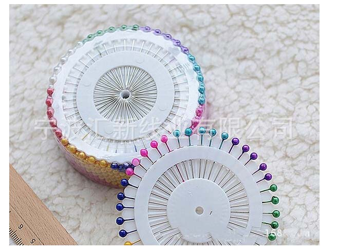 Colorful Round Pearl Head Dressmaking Pins Weddings Corsage Florists Sewing Tools Women Mini Ball Handmade