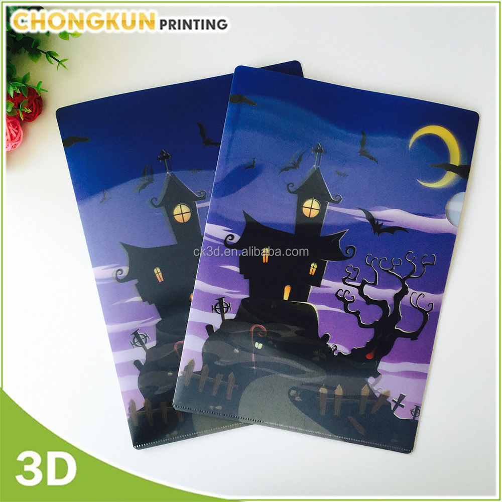 Customized image file for promotion gifts folder plastic