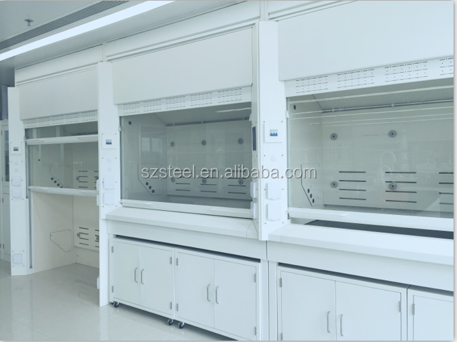 fashional elegant white fume hood using in industry and chemical lab