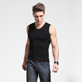 Top selling breathable 100% cotton mens gym tank top/stringer tank top