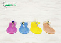 women fashion jelly flip flop slippers 2013