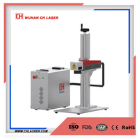 portable fiber laser marker / laser engraver machine with D80 rotary for rings, steel pipe