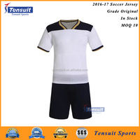 2016 High quality football club soccer jersey set uniform, new design football kits for soccer team