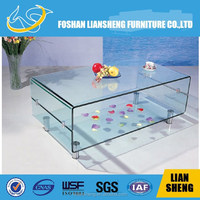 Coffee Table Fish Tank/Glass and marble fish tank coffee table/Coffee Table Fish Tank aquarium -#CR07L-M3