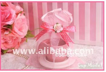Ceramic Souvernirs gifts Cup with net bag