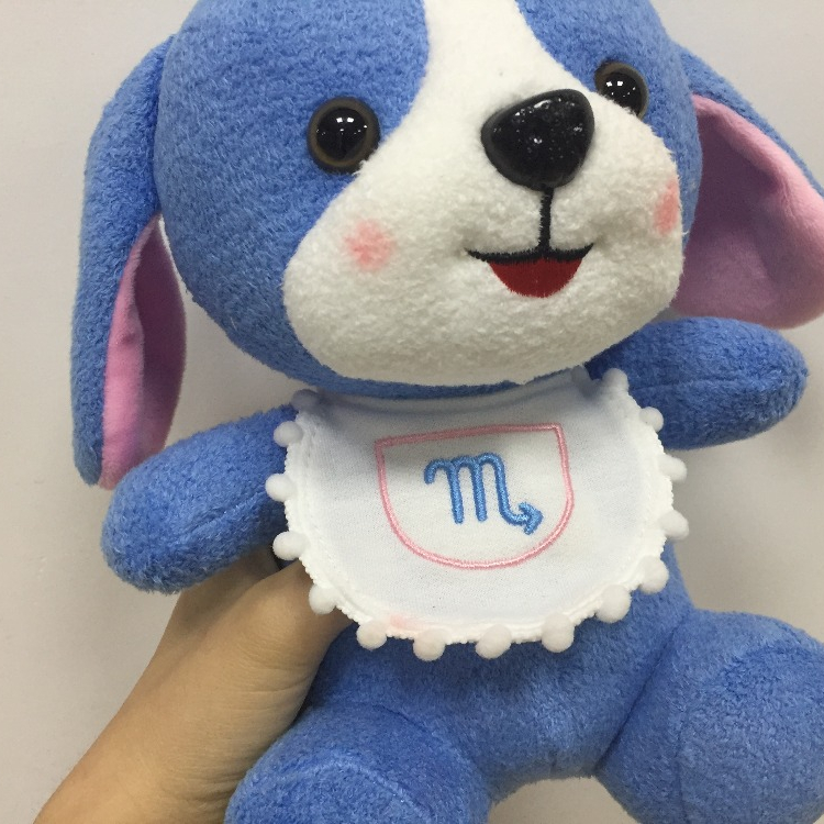 HI seven colors puppy toys plush stuffed animal customized plush toys for sale