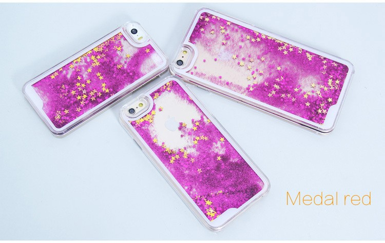 Plating TPU Bumper Quicksand Phone Case For iPhone 5, Moving Liquid Glitter Mobile Phone Cases For iPhone 5 Case