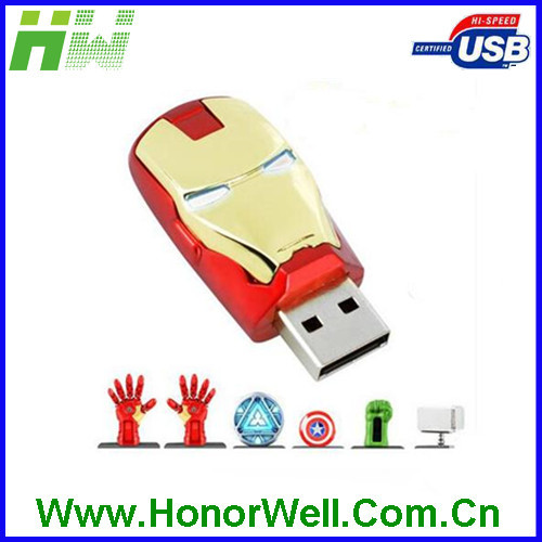 Cartoon Figure Series Shape Plastic USB Flash Driver