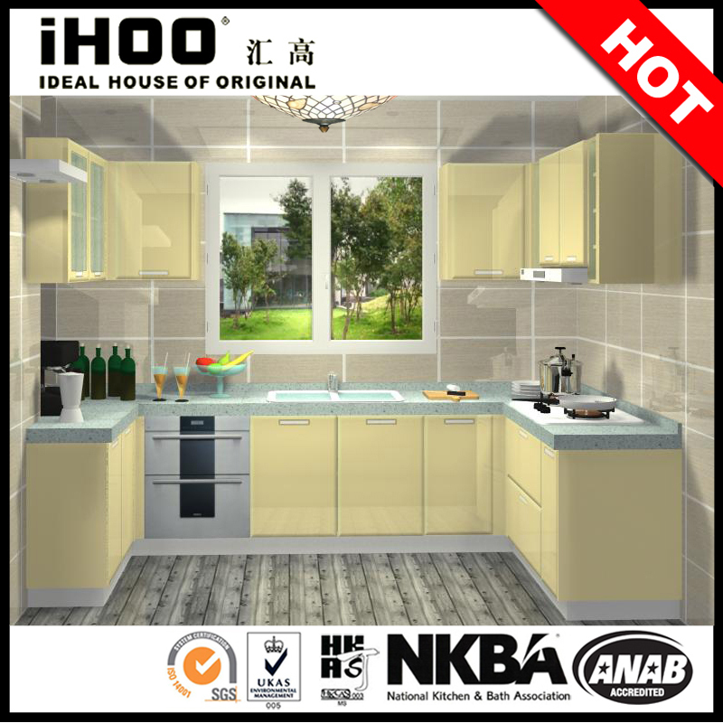 Quality Kitchen Cabinet Color Combination Glass Kitchen