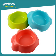 Cheap wholesale multi color footprint shaped plastic pet dog bowl cat bowl pet food container