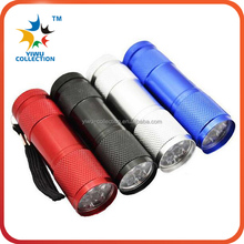 18 pcs AAA Batteries and 6 Torches Included, 9 LED Mini Flashlight Set