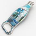 Singapore attractions foil photo neutral beer bottle shaped bottle opener metal magnetic opener