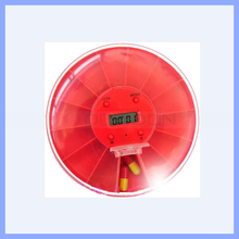 14 Compartment Plastic Pill Box Round Shape Two Week Pillbox