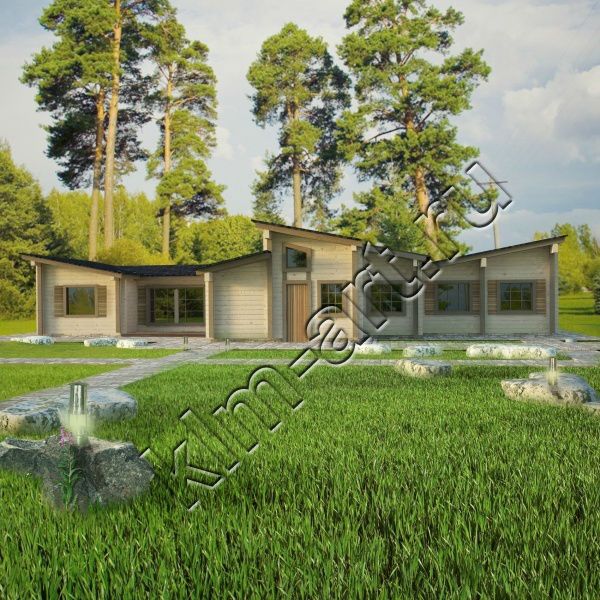 Timber prefab house set 175m2