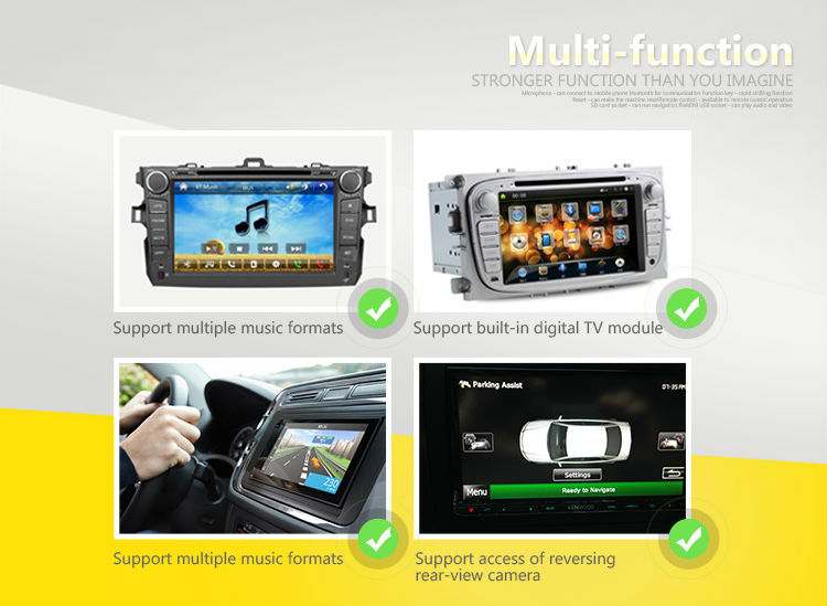 Multimedia DVD Player For Hyundai IX35 Car Radio GPS Navigation With Bluetooth/ USB/ SD/ Rear-view Camera