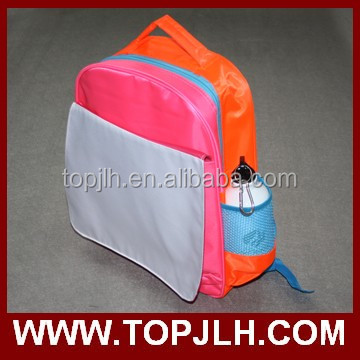 Sublimation heat transfer logo printing new design child school bag