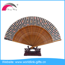 Souvenir Gift Chinese Personalized Silk Hand Fan with high quality bamboo silk fan