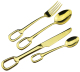 Stainless Steel Gold Plated Flatware Set Home Kitchen Hotel Restaurant 4pcs Tableware Cutlery Set