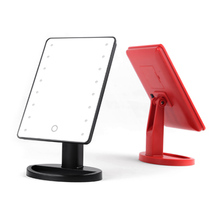 Factory sales mirror led light for bedroom and led desktop mirrors with touch screen sensor switch mirror glass price