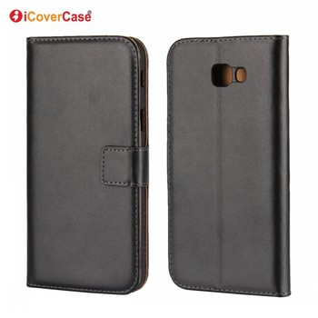 Factory Wholesale Phone Accessories Regenerated Leather Wallet Flip Cover Case for Samsung Galaxy A7 2017 A720F