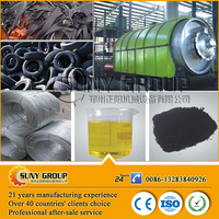 high output scrap tyre recycling to oil plant for furnace oil /crude oil/steel wire