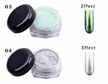 1g mirror chrome effect acrylic nail powder with 1 Brush