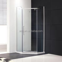 accept customized 8mm Toughened Glass flat bathroom shower box